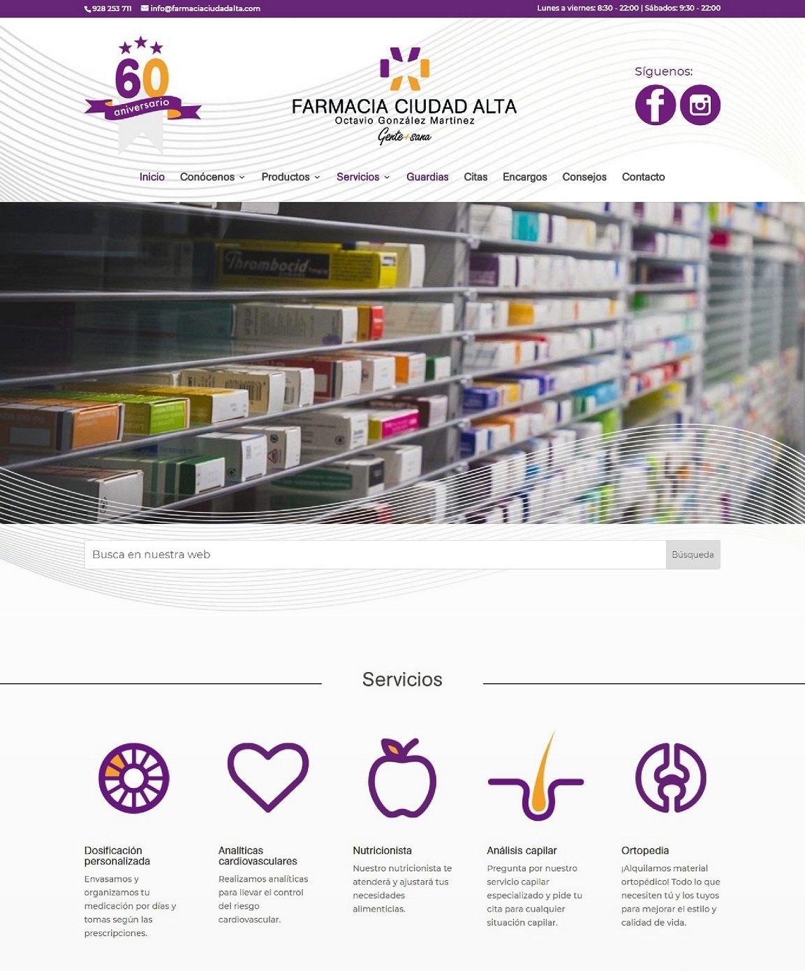 Inicio Farmacia Ciudad Alta