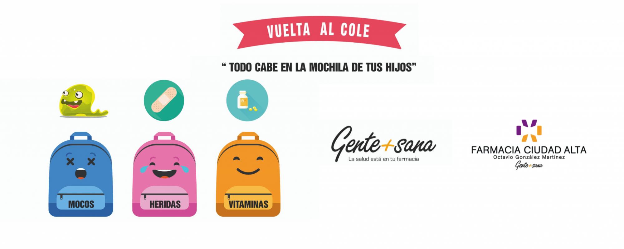 vuelta al cole con Gente + Sana y Farmacia Ciduad Alta