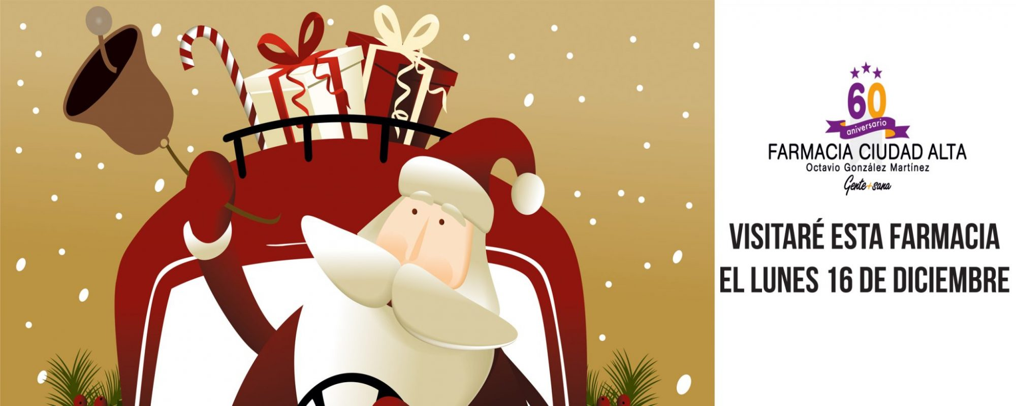 Papá Noel visitaría Farmacia Ciudad Alta el 16 de diciembre