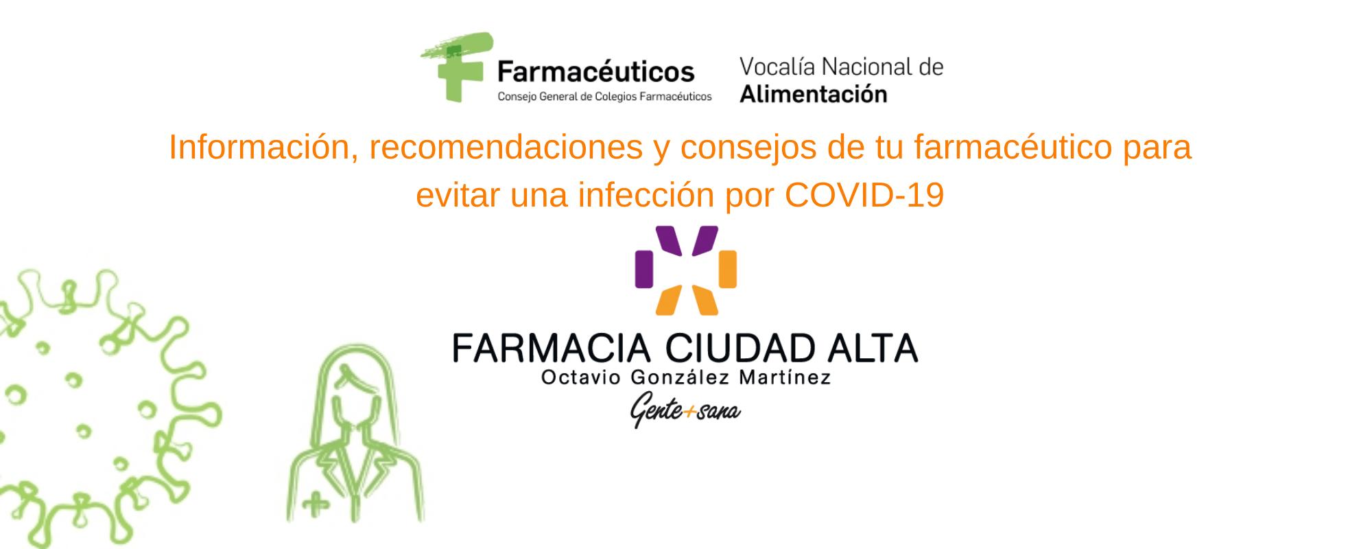 Consejos COVID-19 - Farmacia Ciudad Alta