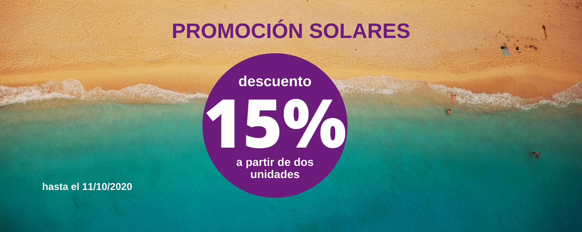 15% descuento solares - Farmacia Ciudad Alta