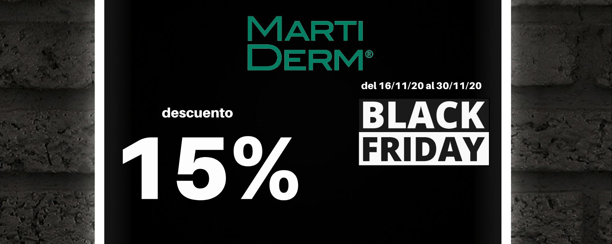 Banner Black Friday Martiderm Farmacia Ciudad Alta