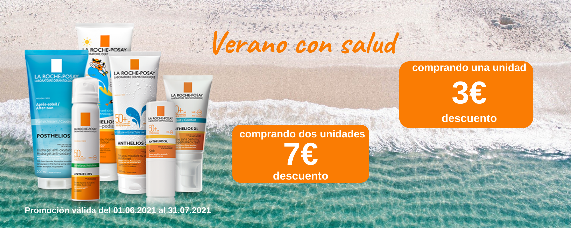 Verano con salud La Roche-possay - Banner Farmacia Ciudad Alta