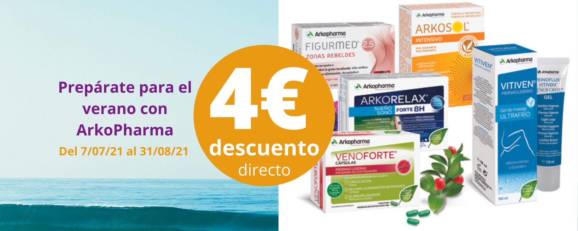 4€ de descuento Arkopharma en Farmacia Ciudad Alta