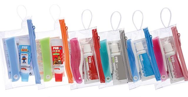 PHB neceseres con cepillos y pasta de dientes para el cole