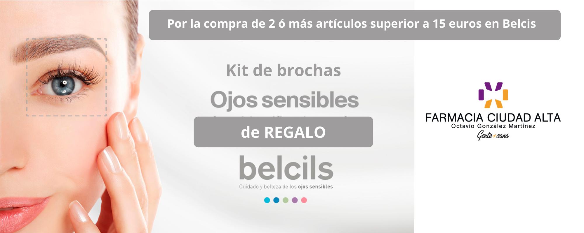 Kit de brochas de ojos sensibles belcils de regalo en Farmacia Ciudad Alta